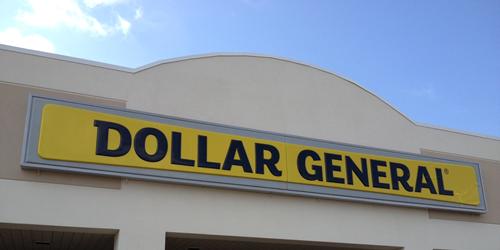 Dollar Store Exterior Signage
