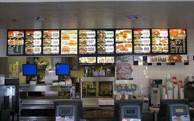 Fast Food Menu Board